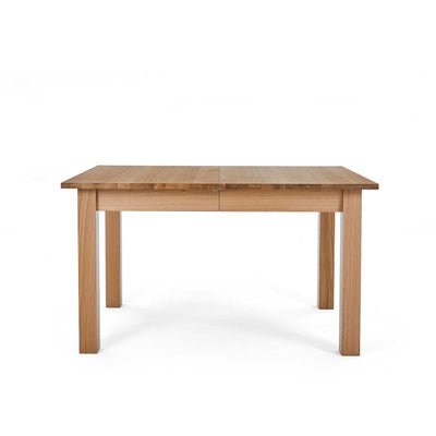 Closed view of the Falmouth Oak Large Extending Dining Table