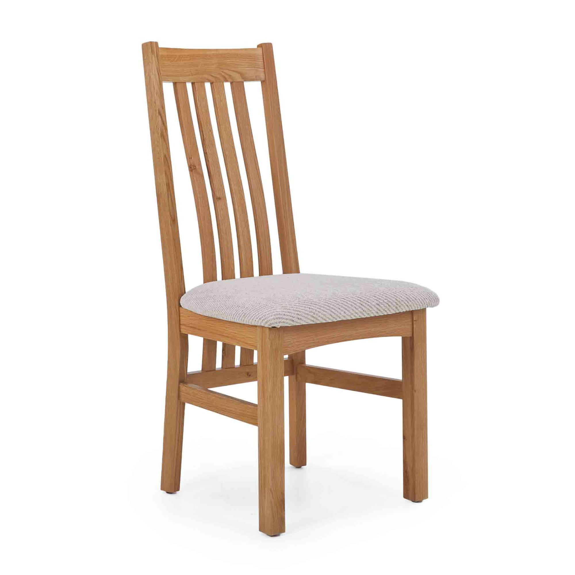 Falmouth Oak Slatted Dining Chair by Roseland Furniture