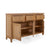 Internal view of the 3 Door Falmouth Oak Large Sideboard by Roseland Furniture