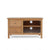 front view of Falmouth Oak 90cm TV Stand by Roseland Furniture