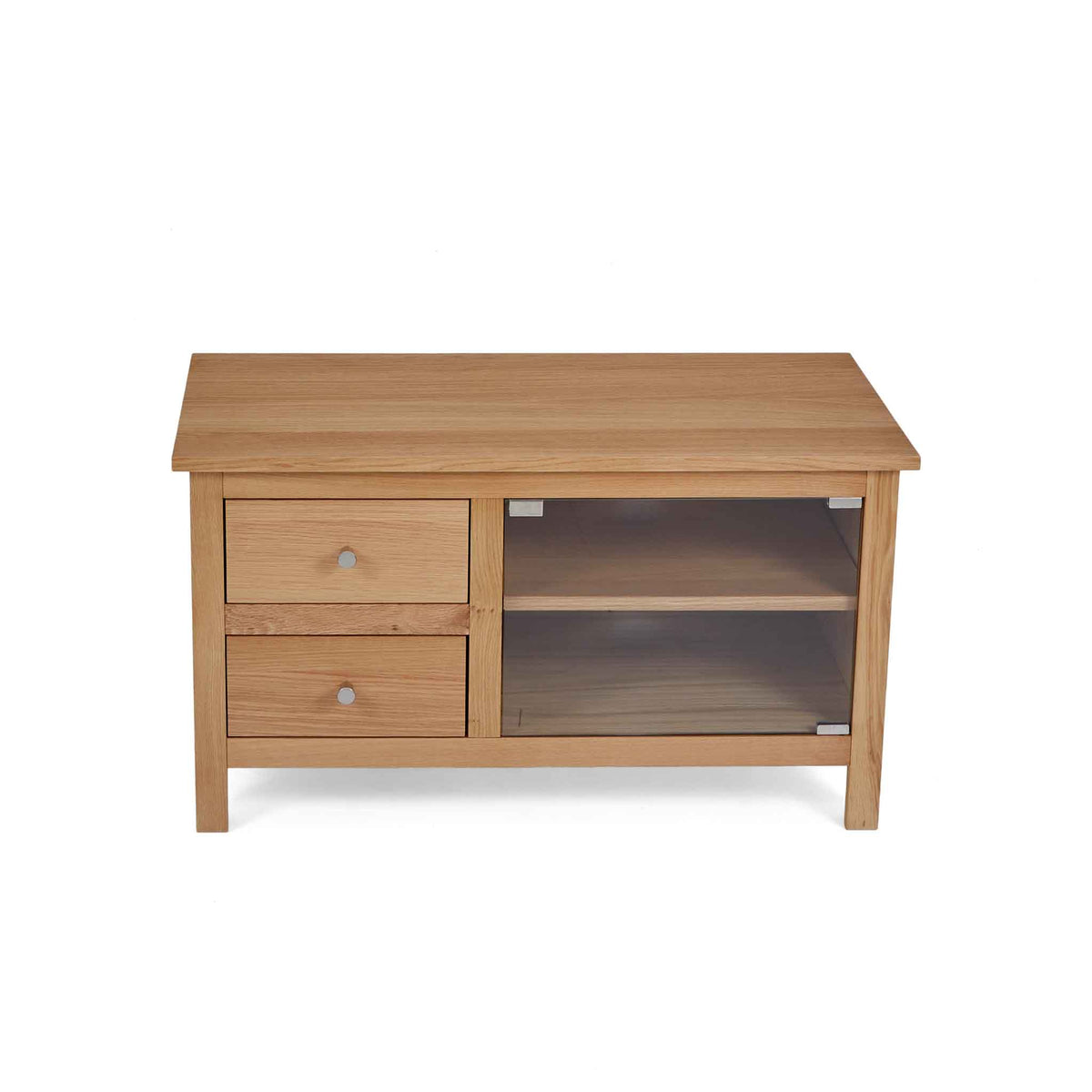 tabletop view of the Falmouth Oak 90cm TV Stand by Roseland Furniture