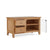 internal view of the Falmouth Oak 90cm TV Stand by Roseland Furniture