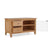 open glass door view of the Falmouth Oak 90cm TV Stand by Roseland Furniture