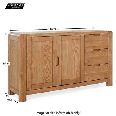 Size guide - Harvey Large Sideboard