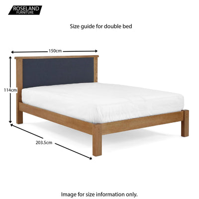 Broadway 4ft6 Double  Bed Frame - Size Guide