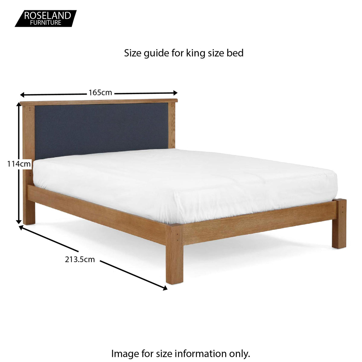 Broadway 5ft King Size Bed Frame - Size Guide