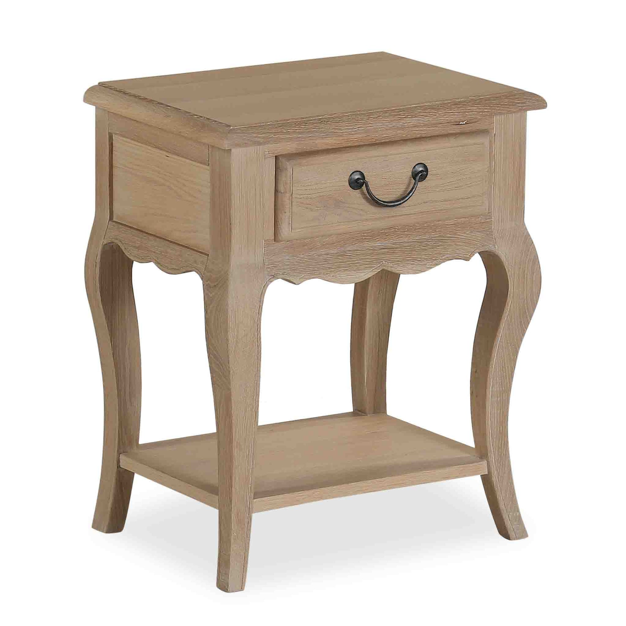 Harrogate Oak French Style Nightstand Table from Roseland Furniture