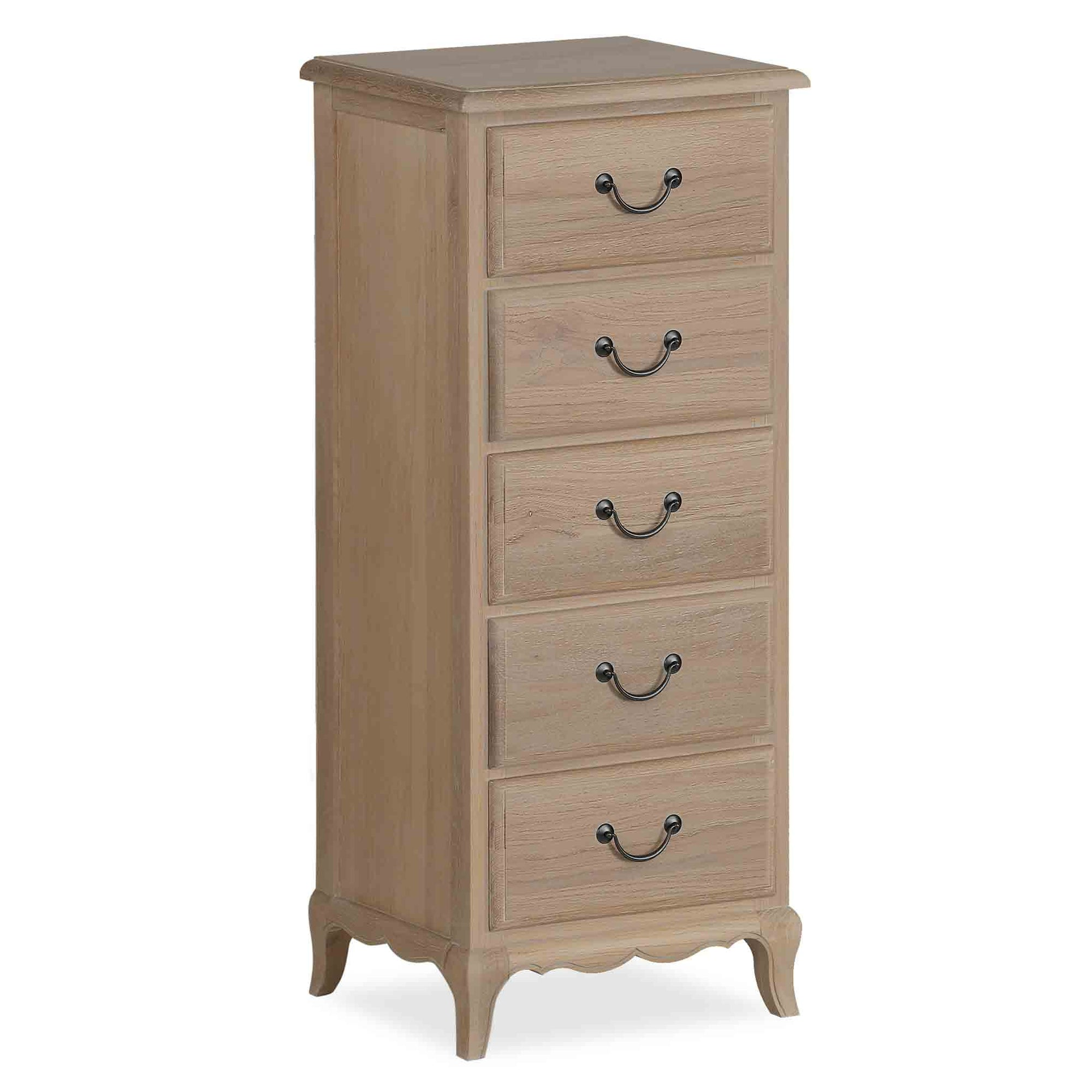 Harrogate Oak French Style Tallboy Chest from Roseland Furniture