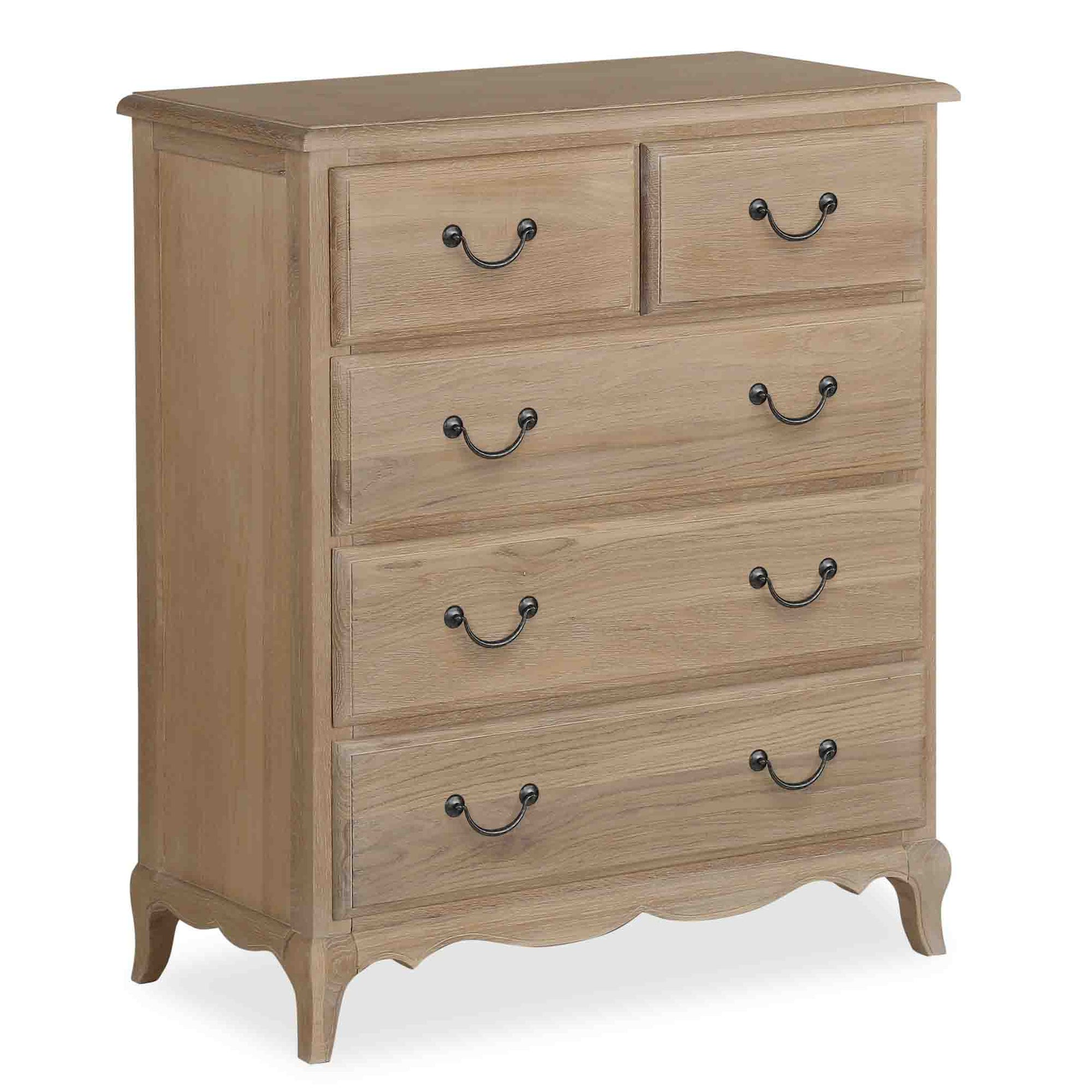 Harrogate Oak 2 over 3 Chest of Drawers from Roseland Furniture