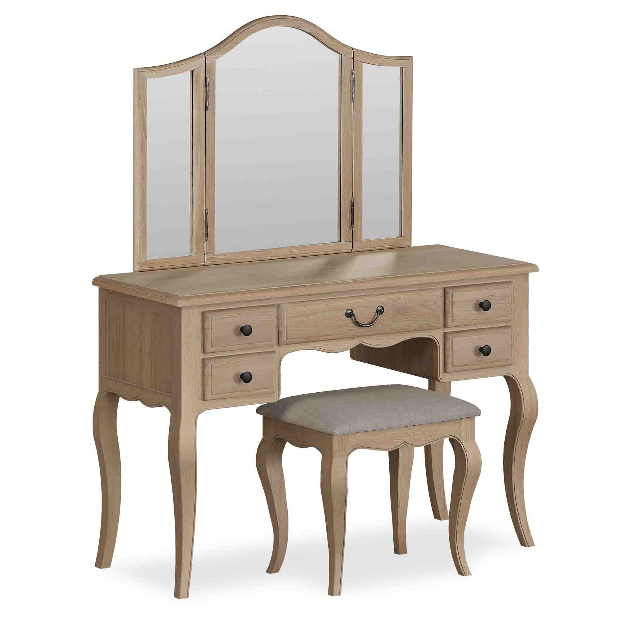 Harrogate Oak Dressing Table Set from Roseland Furniture