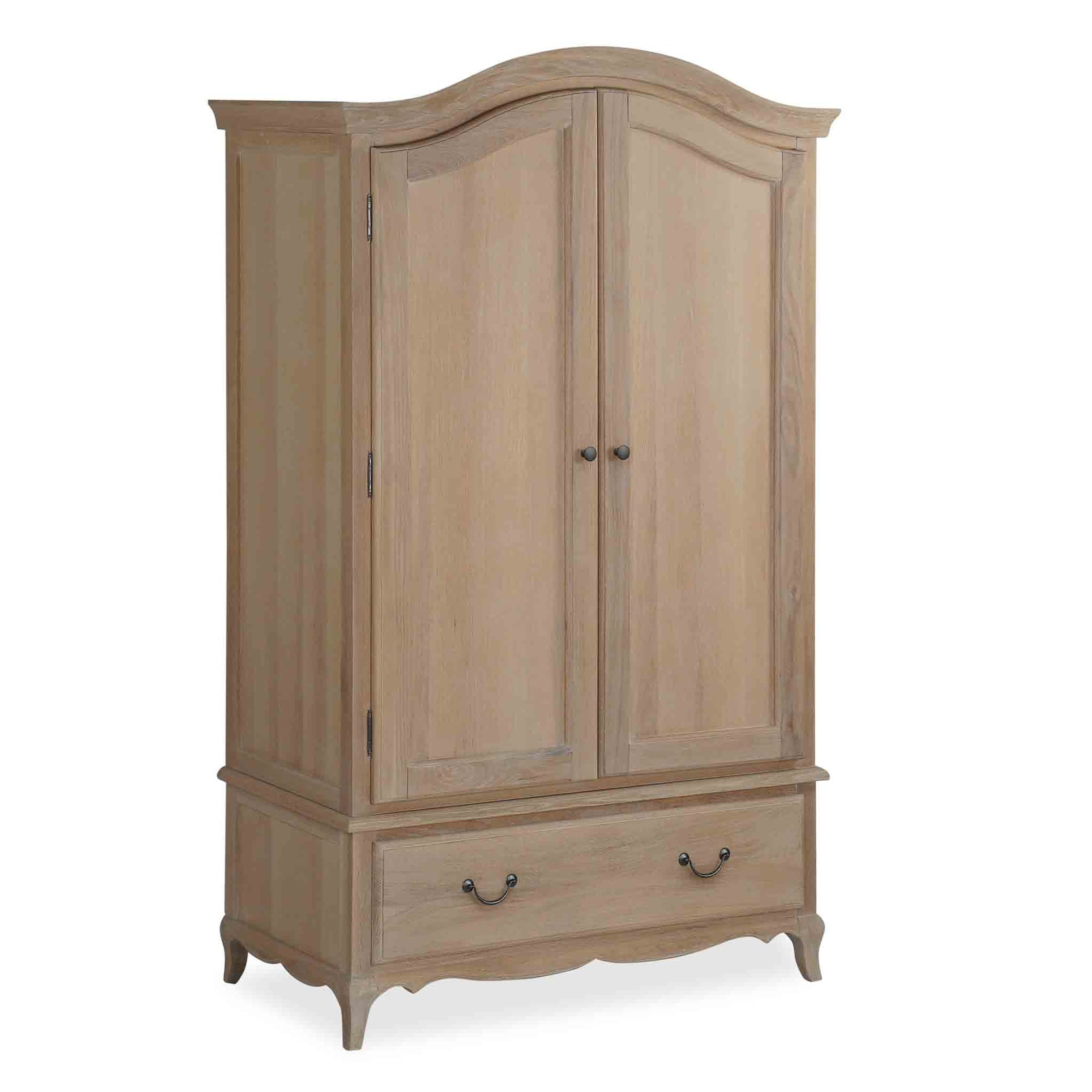 Harrogate Oak French Style Double Wardrobe from Roseland Furniture