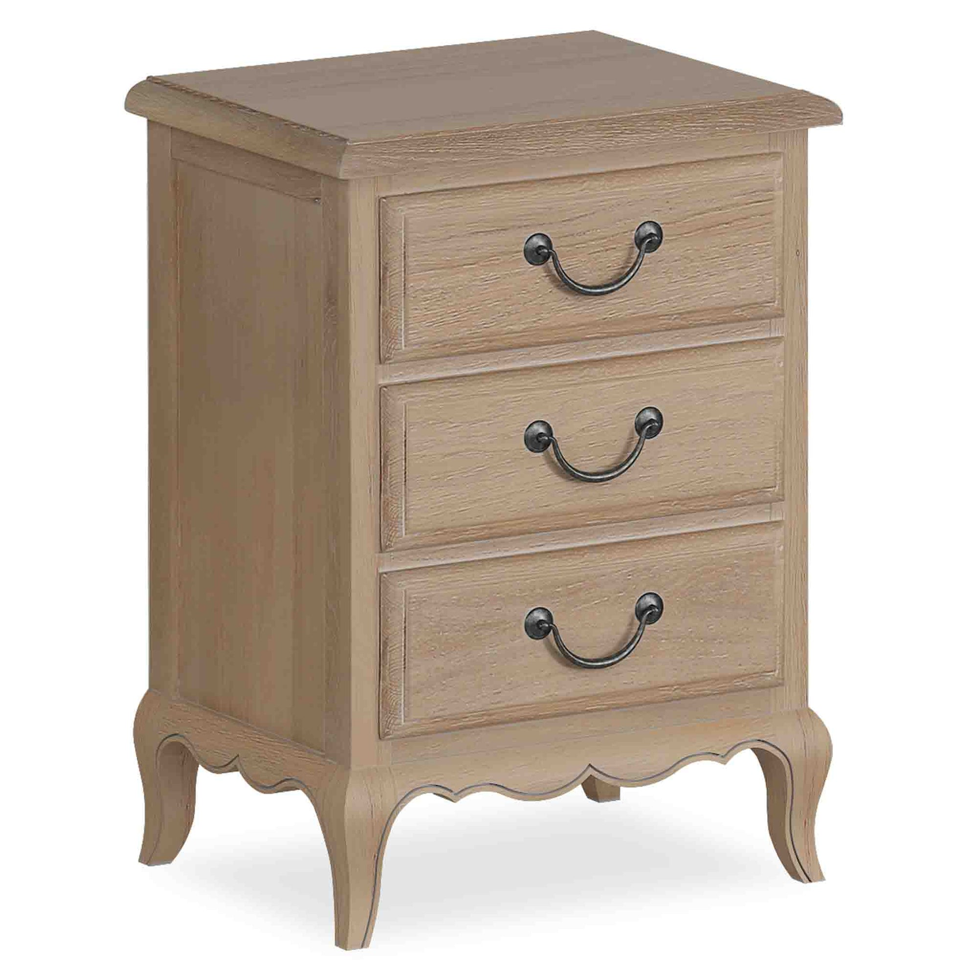 Harrogate Oak French Style Bedside Table from Roseland Furniture