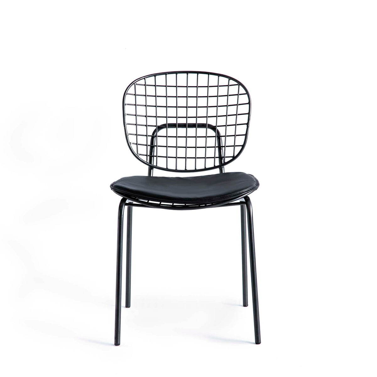 Freya Metal Dining Chair with Cushioned Seat by Roseland Furniture