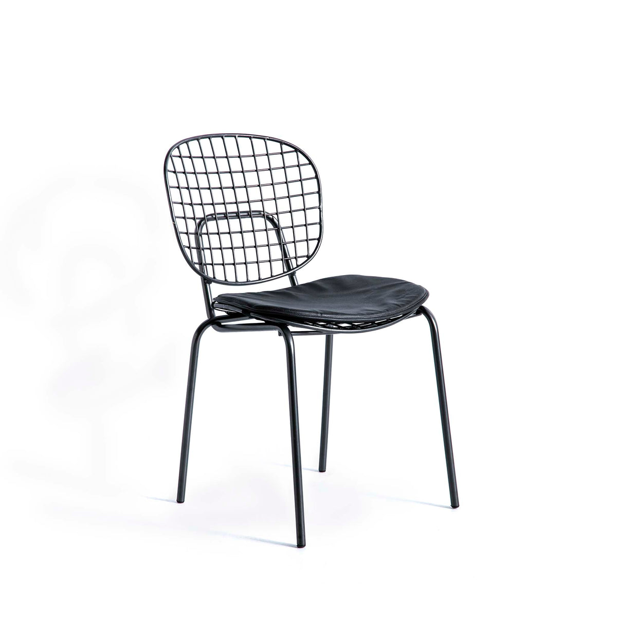 Freya Metal Dining Chair with Cushioned Seat