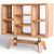 Freya Acacia Bookcase - Close up of side view of bookcase
