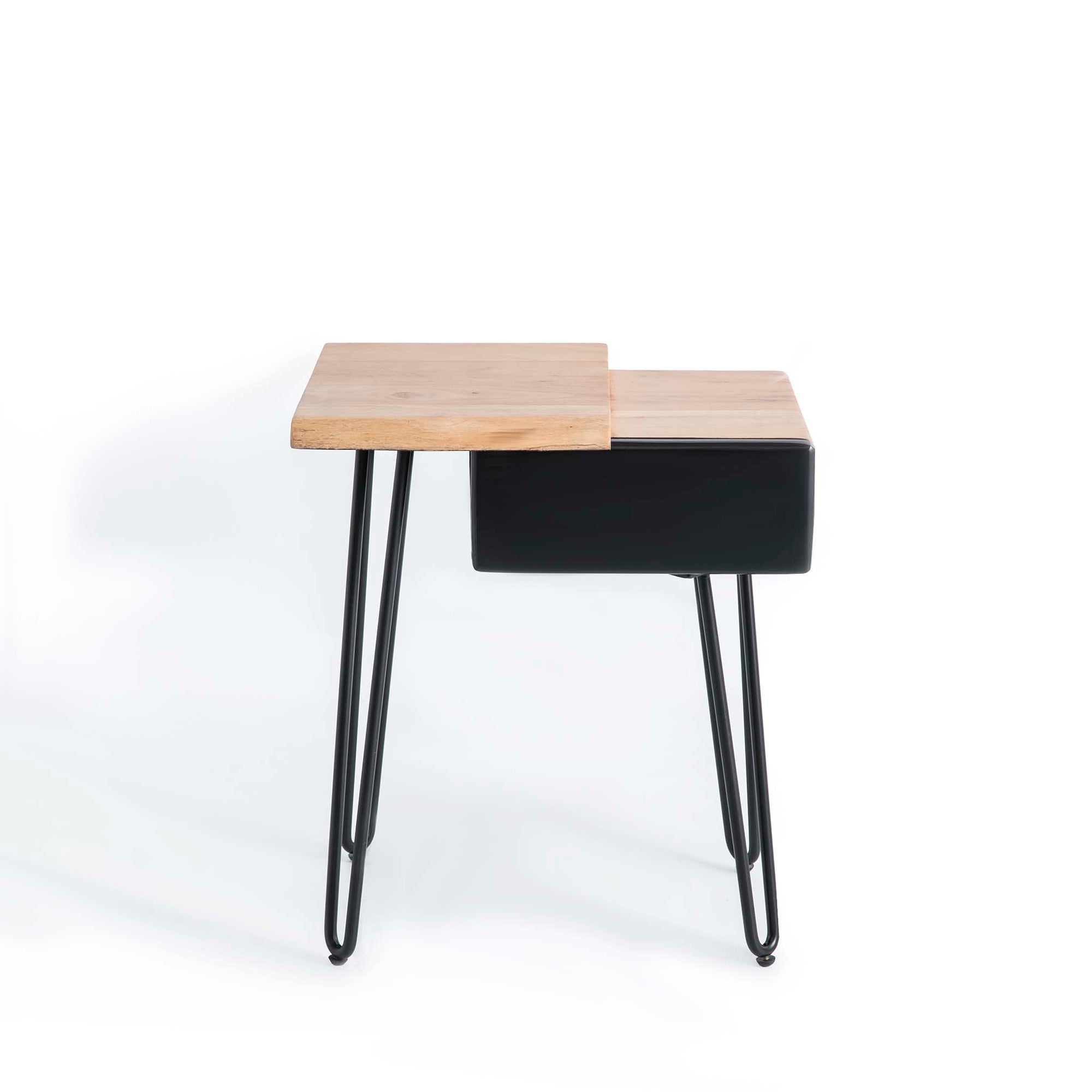 Freya Acacia End Table with Drawer by Roseland Furniture