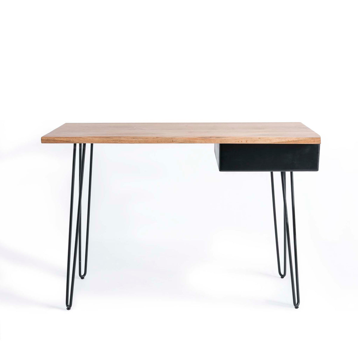Freya Acacia Study Desk with Drawer by Roseland Furniture