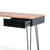 Freya Acacia Study Desk with Drawer - Side view with drawer open