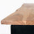 Freya Acacia Study Desk with Drawer - Close up of shaped top on deask