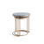 Kandla Grey Marble Round Nest of Tables with Gold Base - Nested