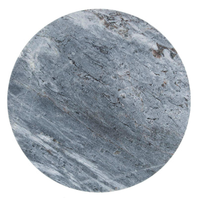 Kandla Grey Marble Round Nest of Tables with Gold Base - Close up of Marble Top