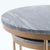 Kandla Grey Marble Round Nest of Tables with Gold Base - Close up of  side of tables while nested