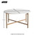 Kandla White Round Marble Coffee Table with Gold Base - Size Guide