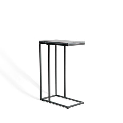 Kandla Grey Marble Side Table with Grey Base by Roseland Furniture