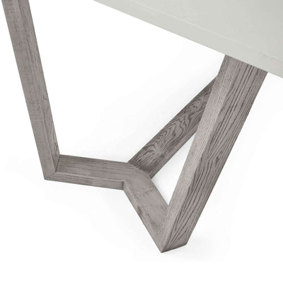 close up of the solid wood legs on the Epsom 150cm Rectangular Dinner Table