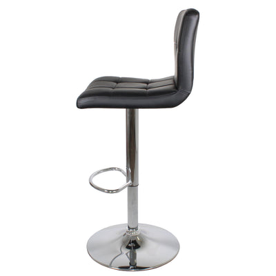 Side view of the Shadow Grey Elton Adjustable Breakfast Bar Stool from Roseland Furniture
