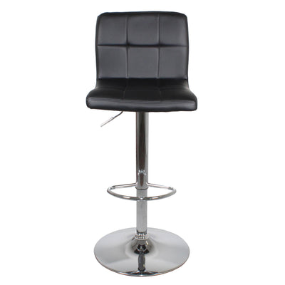 Front view of the Shadow Grey Elton Adjustable Breakfast Bar Stool from Roseland Furniture