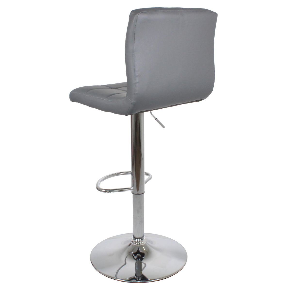 Back view of the Sky Grey Elton Adjustable Breakfast Bar Stool from Roseland Furniture