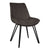 Blythe Dark Grey Suede Dining Chair