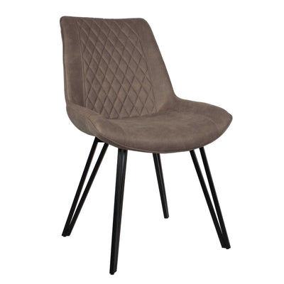 Blythe Light Grey Suede Dining Chair