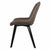 Side view of Blythe Light Grey Suede Dining Chair