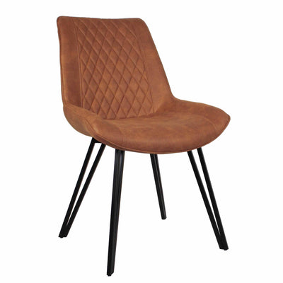 Blythe Tan Suede Dining Chair
