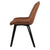 Side view of Blythe Tan Suede Dining Chair