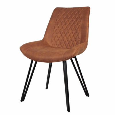 Blythe Tan Suede Dining Chair Pair