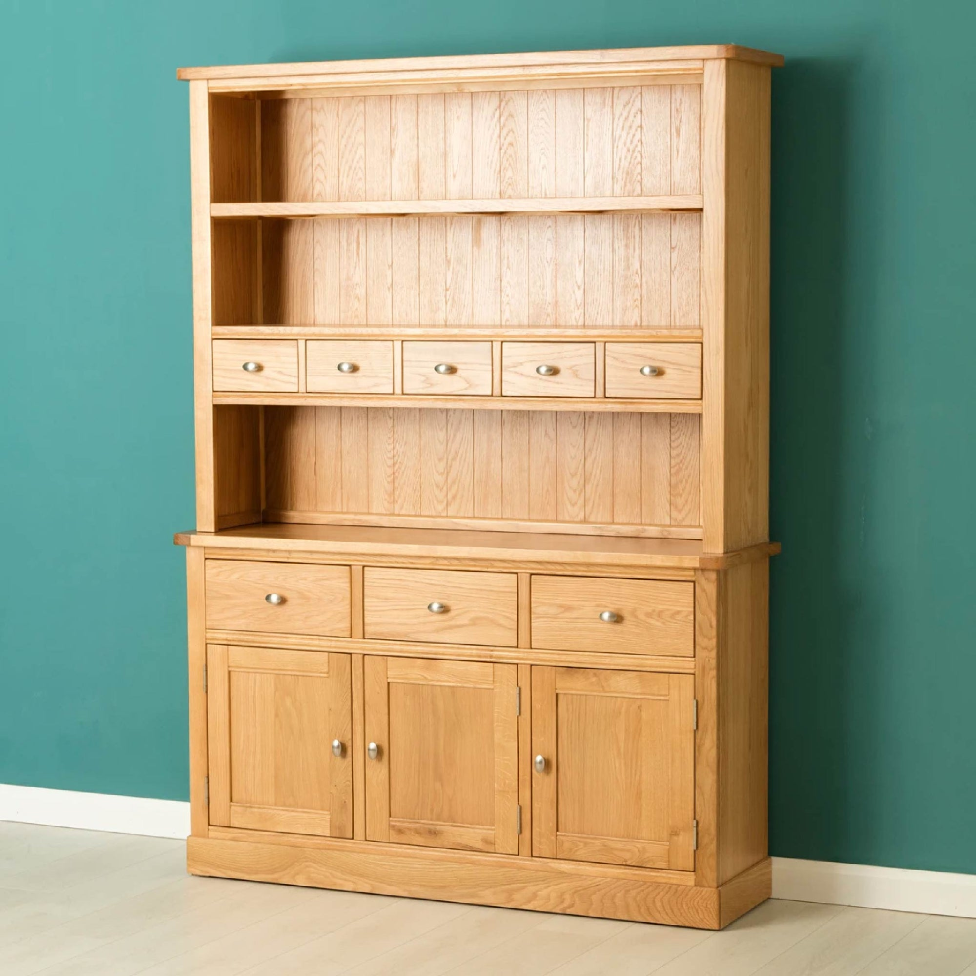 Hampshire Oak Dresser Display Unit by Roseland Furniture