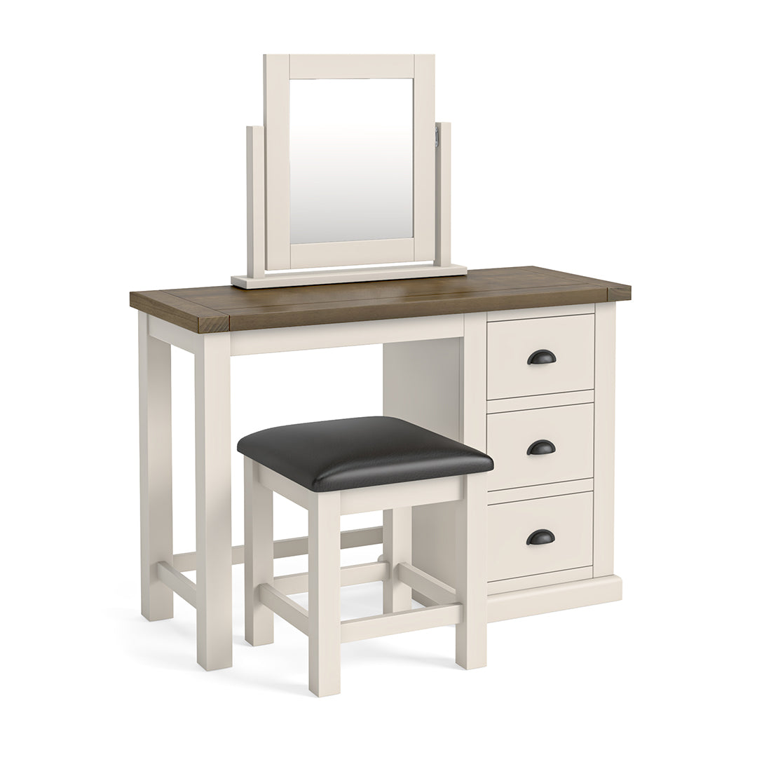 Hove Ivory Dressing Table Set with Mirror by Roseland Furniture