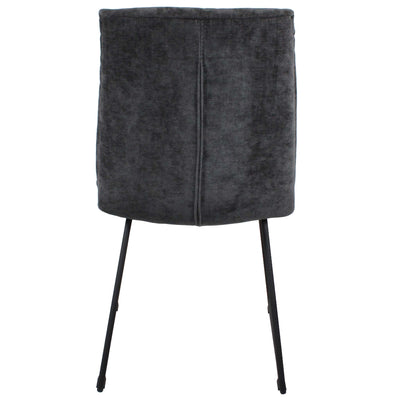 Back view of the Dark Grey Hadley Dining Chair from Roseland Furniture
