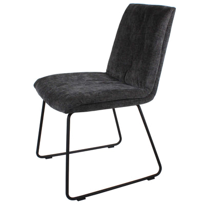 Dark Grey Hadley Dining Chair with steel legs