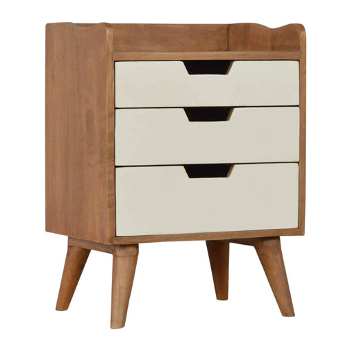 Artisan Bedside with 3 Painted Drawers by Roseland Furniture
