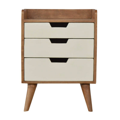 Artisan Bedside with 3 Painted Drawers - front view