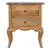 The Artisan French Cabriole 2 Drawer Wooden Bedside Table