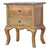 The Artisan French Cabriole Bedside Table with Storage