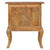 Back panel view of The Artisan French Cabriole 2 Drawer Bedside Table