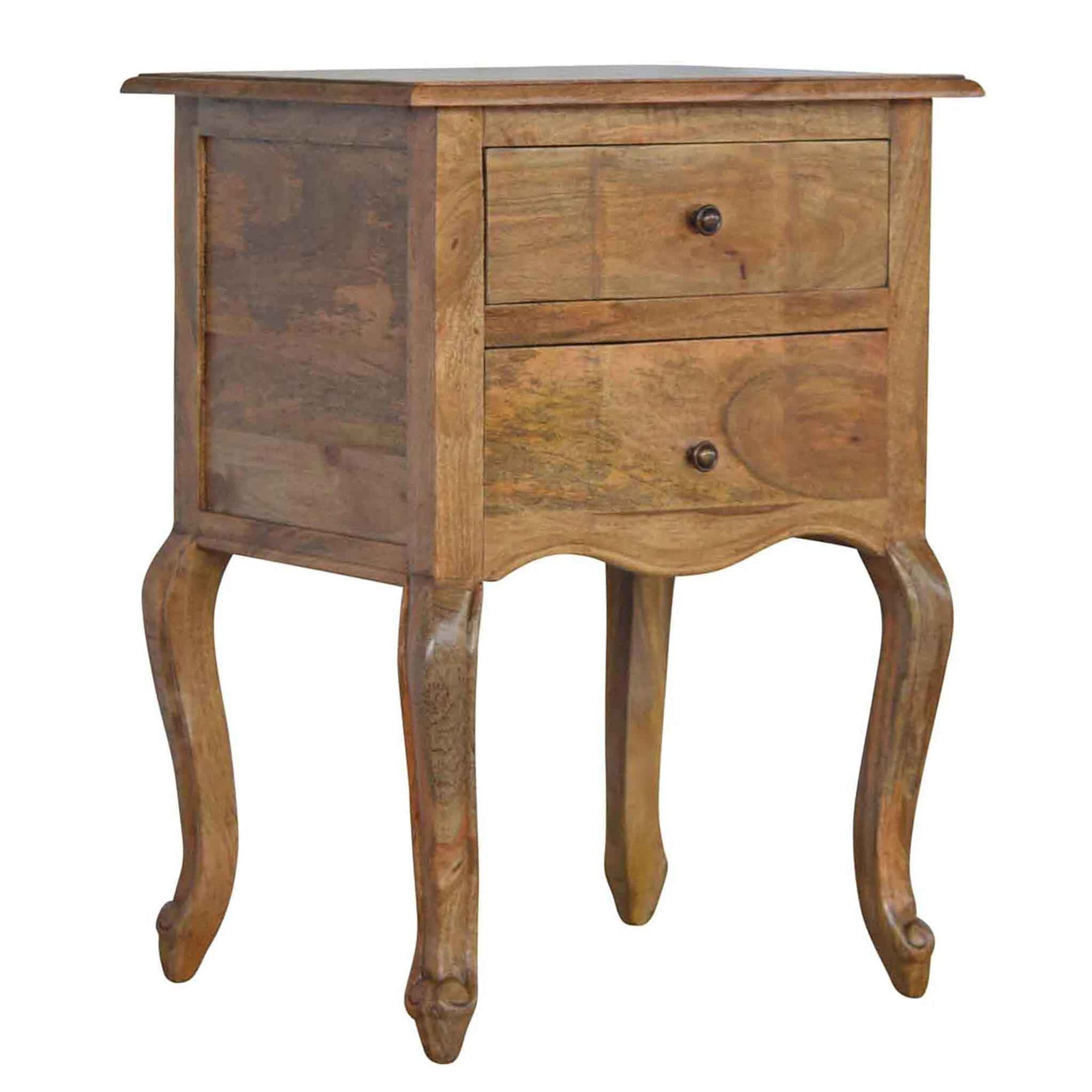 The Artisan French Style 2 Drawer Bedside Table from Roseland Furniture
