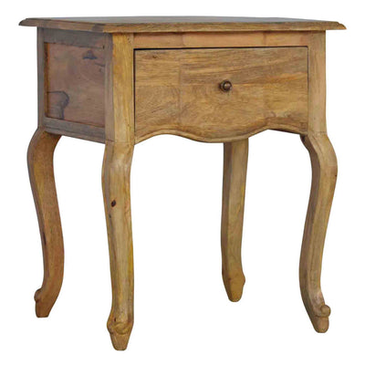 The Artisan French Style 1 Drawer Bedside Table from Roseland Furniture