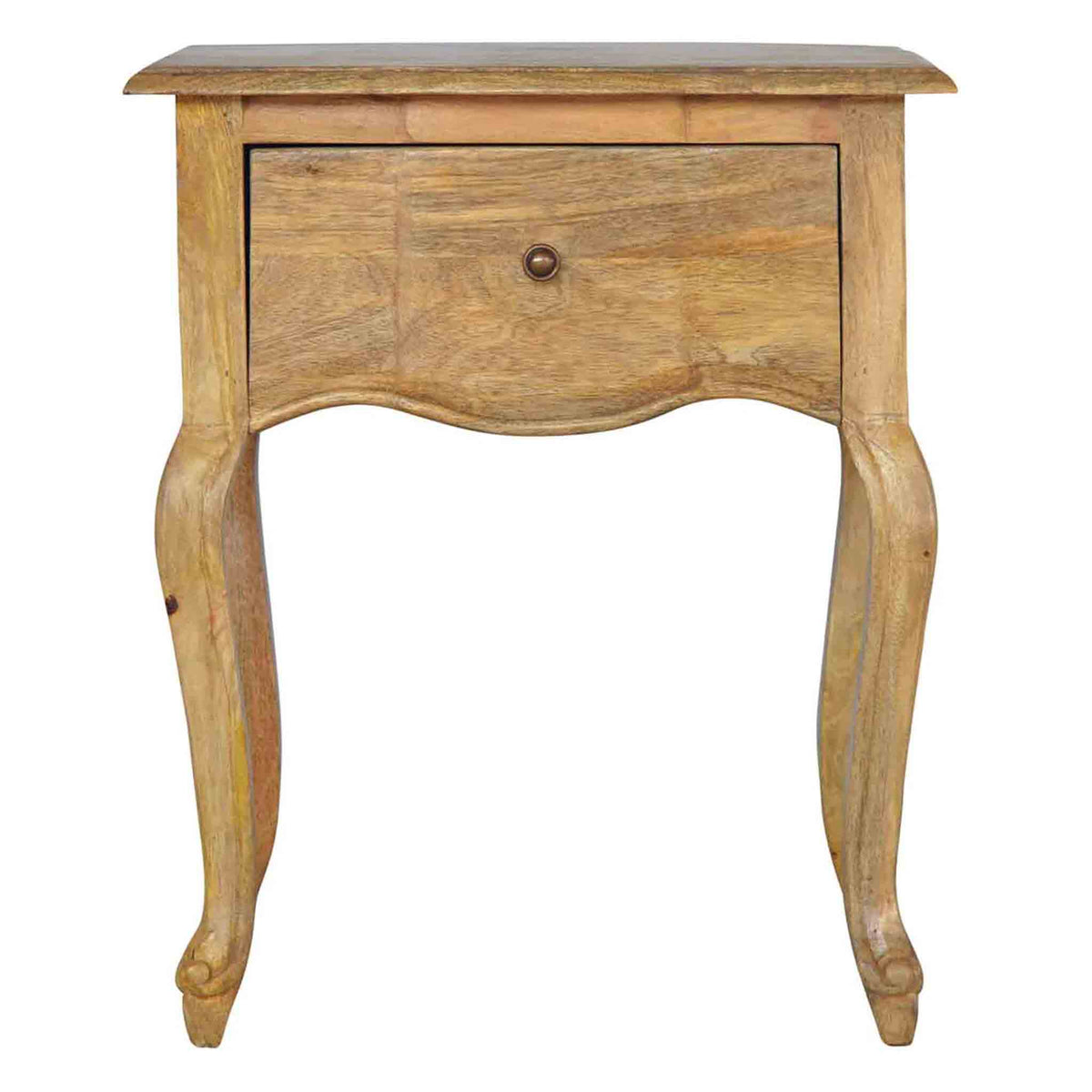 The Artisan French Style 1 Drawer Wooden Bedside Table